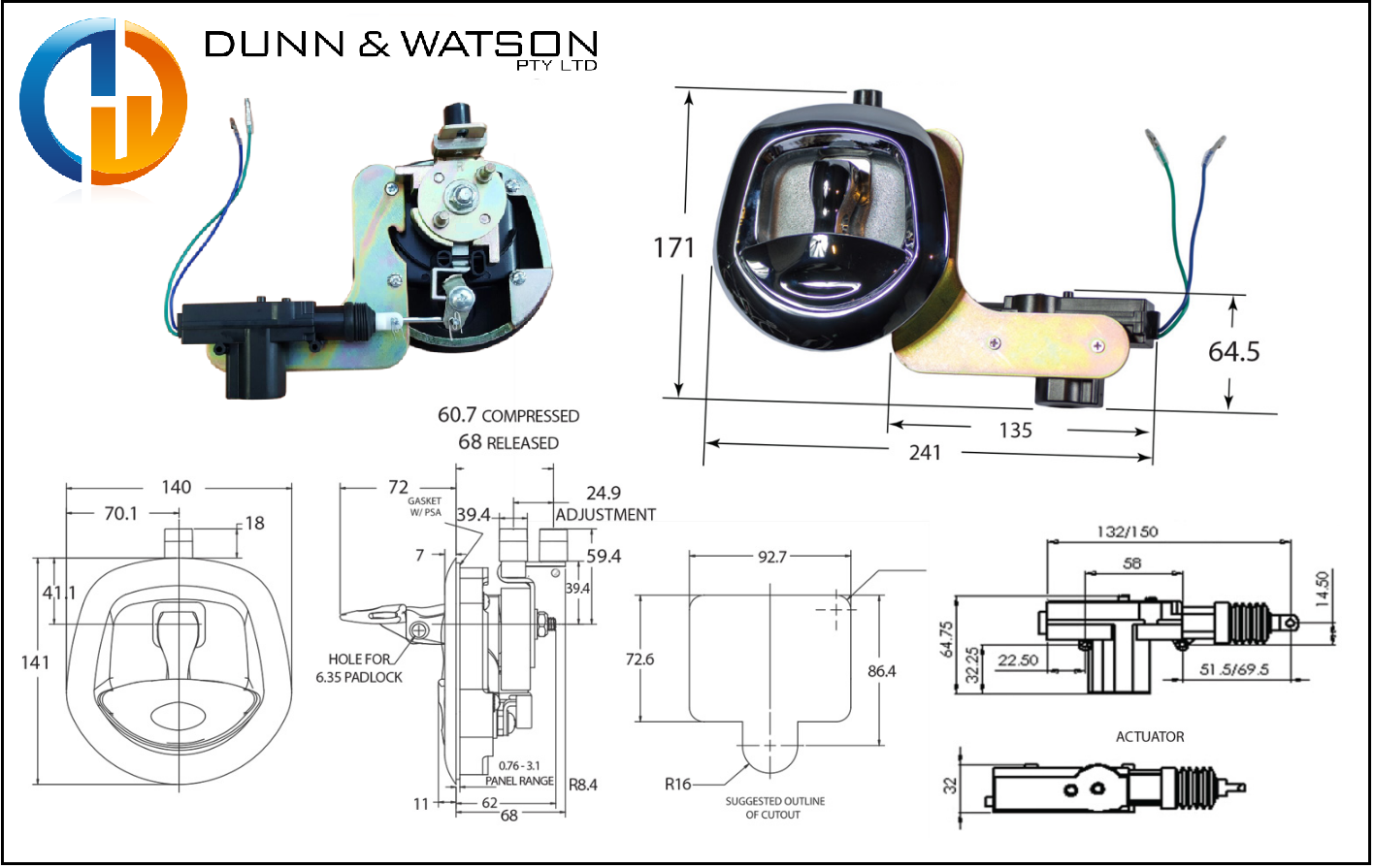 Dunn & Watson - Power Whale Tail - Chrome