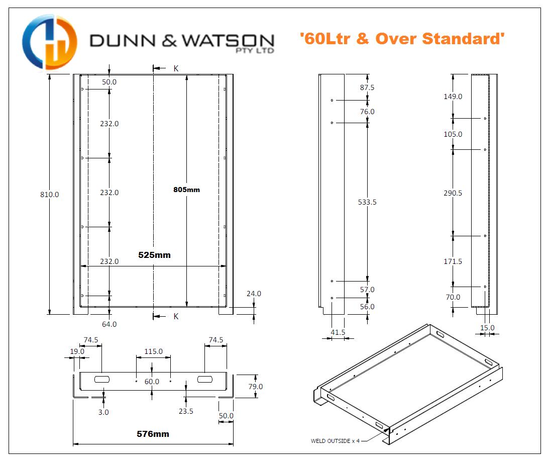 Dunn & Watson - 4wd Fridge Slides - 60LTR & Over